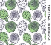 seamless pattern with... | Shutterstock .eps vector #496141561