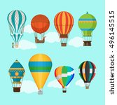 aerostat balloon transport.... | Shutterstock .eps vector #496145515