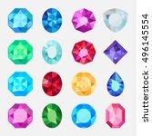 gems isolated on white... | Shutterstock .eps vector #496145554