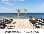 arch for the wedding ceremony... | Shutterstock . vector #496156939