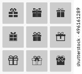 gift icon vector flat sign app...