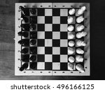 wooden chess sets. this unique... | Shutterstock . vector #496166125