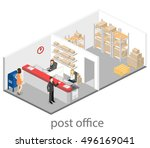 isometric flat 3d interior of... | Shutterstock .eps vector #496169041