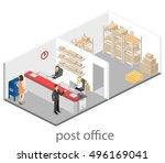 isometric flat 3d interior of... | Shutterstock .eps vector #496169041