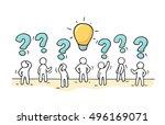sketch   crowd of working...   Shutterstock .eps vector #496169071