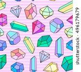 Vector Seamless With Diamonds...