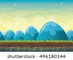 cartoon vector nature landscape ... | Shutterstock .eps vector #496180144