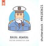 naval admiral sea wolf marine... | Shutterstock .eps vector #496183621