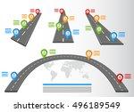 road infographic elements set... | Shutterstock .eps vector #496189549