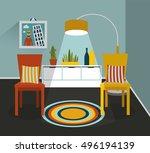 interior design. vector... | Shutterstock .eps vector #496194139