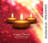 abstarct happy diwali background | Shutterstock .eps vector #496196905