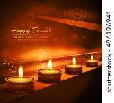 abstarct happy diwali background | Shutterstock .eps vector #496196941