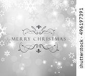 christmas silver background... | Shutterstock .eps vector #496197391