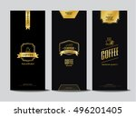 packaging design for a coffee ... | Shutterstock .eps vector #496201405