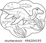 plesiosaur  | Shutterstock .eps vector #496204195
