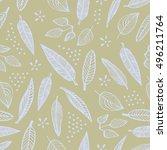 hand drawn vector seamless... | Shutterstock .eps vector #496211764
