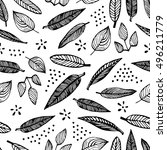 hand drawn vector seamless... | Shutterstock .eps vector #496211779