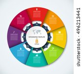 circle infographic template....   Shutterstock .eps vector #496213441