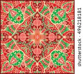 vector colorful ornament.... | Shutterstock .eps vector #496218181