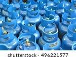 Blue Lpg Or Propane Tank