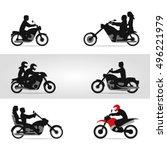 bikers on motorcycles | Shutterstock .eps vector #496221979