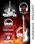 graphic set. symbol of rock... | Shutterstock .eps vector #496222957