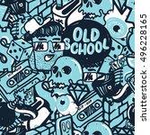 original youth seamless... | Shutterstock .eps vector #496228165