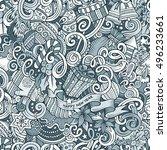 cartoon cute doodles new year... | Shutterstock .eps vector #496233661