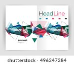 unusual abstract corporate... | Shutterstock .eps vector #496247284