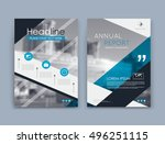 abstract a4 brochure cover... | Shutterstock .eps vector #496251115