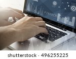 technology and business concept ... | Shutterstock . vector #496255225