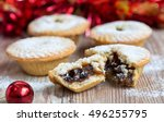 Closeup Of An Open Mince Pie O...