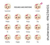 signed feelings and emotions.... | Shutterstock .eps vector #496256431