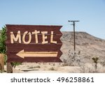 vintage style motel sign... | Shutterstock . vector #496258861