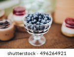 rosette with berries is on the... | Shutterstock . vector #496264921