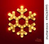 christmas background. retro... | Shutterstock .eps vector #496265995