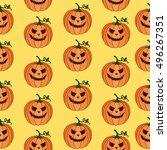 pumpkin vector pattern. texture ...   Shutterstock .eps vector #496267351