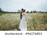 wedding. bride and groom... | Shutterstock . vector #496276801
