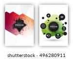 poster or flyer design template ... | Shutterstock .eps vector #496280911