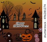 vector image. halloween. use... | Shutterstock .eps vector #496281274