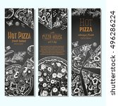 pizza banner design template....   Shutterstock .eps vector #496286224