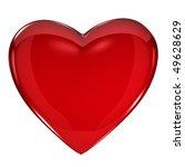 shiny red heart on white... | Shutterstock . vector #49628629