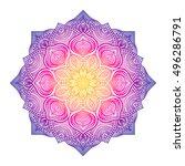floral circular ornament  ...   Shutterstock .eps vector #496286791
