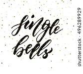 jingle bells   freehand ink... | Shutterstock .eps vector #496289929