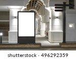 blank mock up of vertical... | Shutterstock . vector #496292359