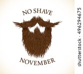 beard silhouette with no shave... | Shutterstock .eps vector #496294675