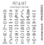 set of pet icons in modern thin ... | Shutterstock .eps vector #496308001