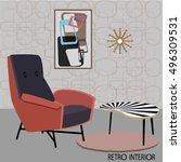 vector illustration of retro... | Shutterstock .eps vector #496309531