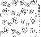 seamless pattern with... | Shutterstock .eps vector #496323445