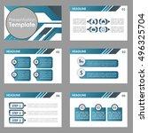blue multipurpose presentation...   Shutterstock .eps vector #496325704
